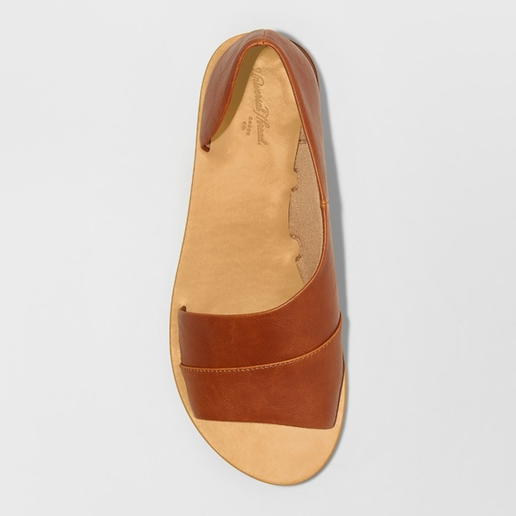 5903926a8b5 Women's Lissa Asymmetrical Slide Sandals - Cognac Boutique